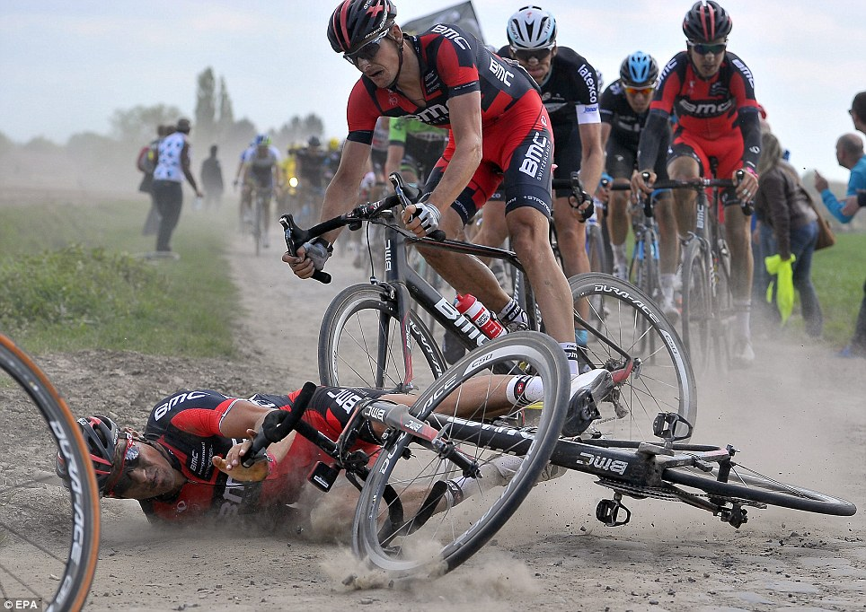 Greg van Avermaet crashing in last year s Paris-Roubaix 14d4cf204