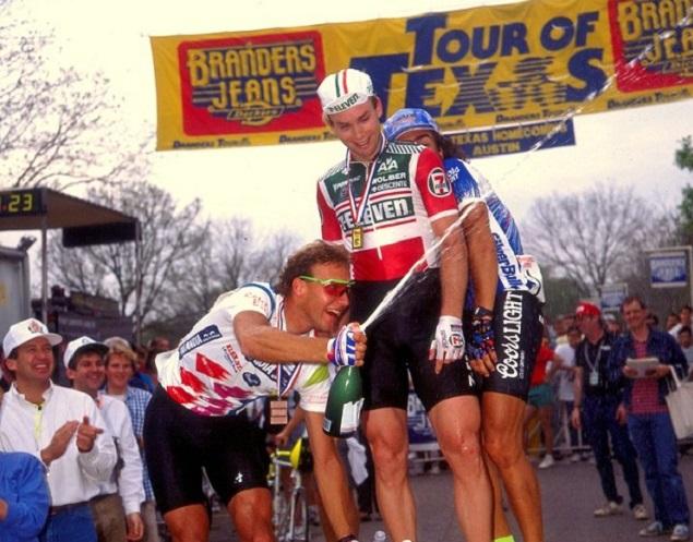 Podium at the Tour of Texas