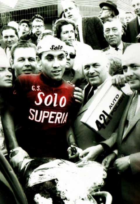 Merckx after winning the GP Stad Vilvoorde