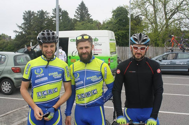 Mick (left) with Ronan Killeen (Centre) and Mark Nicholls (Right) Photo: Cian Hanley