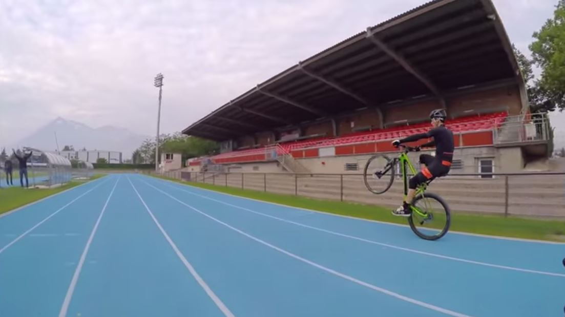 Bicycle Wheelie World Record 25 72 Km Video The Bike Comes First
