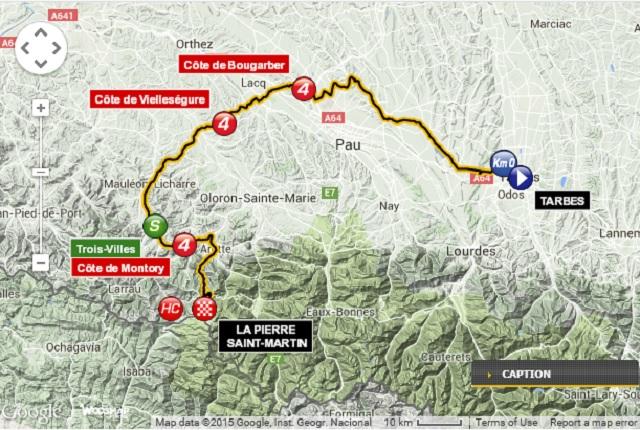 Tour de France STage 10 Map