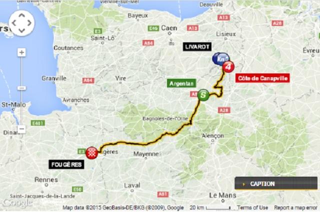 Tour de France Stage 7 Map