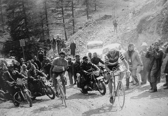Anquetil and Bahamontes on the Col de la Forclaz