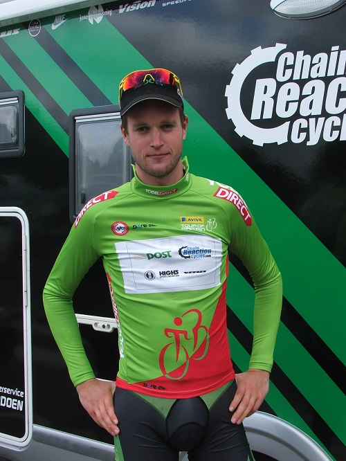 Conor Dunne in the first Sprints jersey of the race