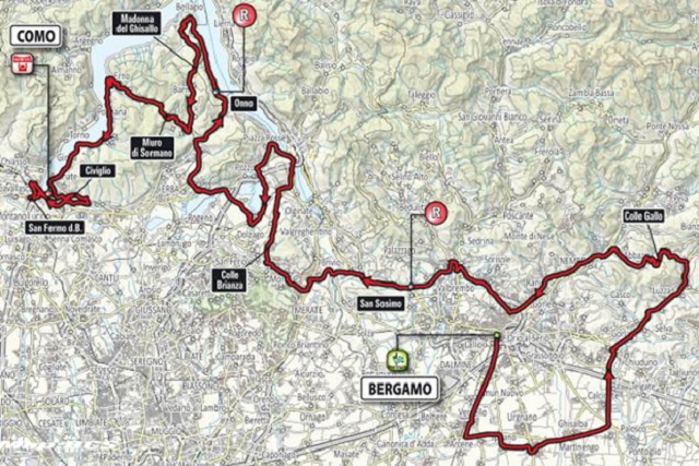 Tour of Lombardy Route