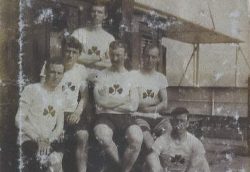 The Irish cycling team on their way to the 1912 Olympics