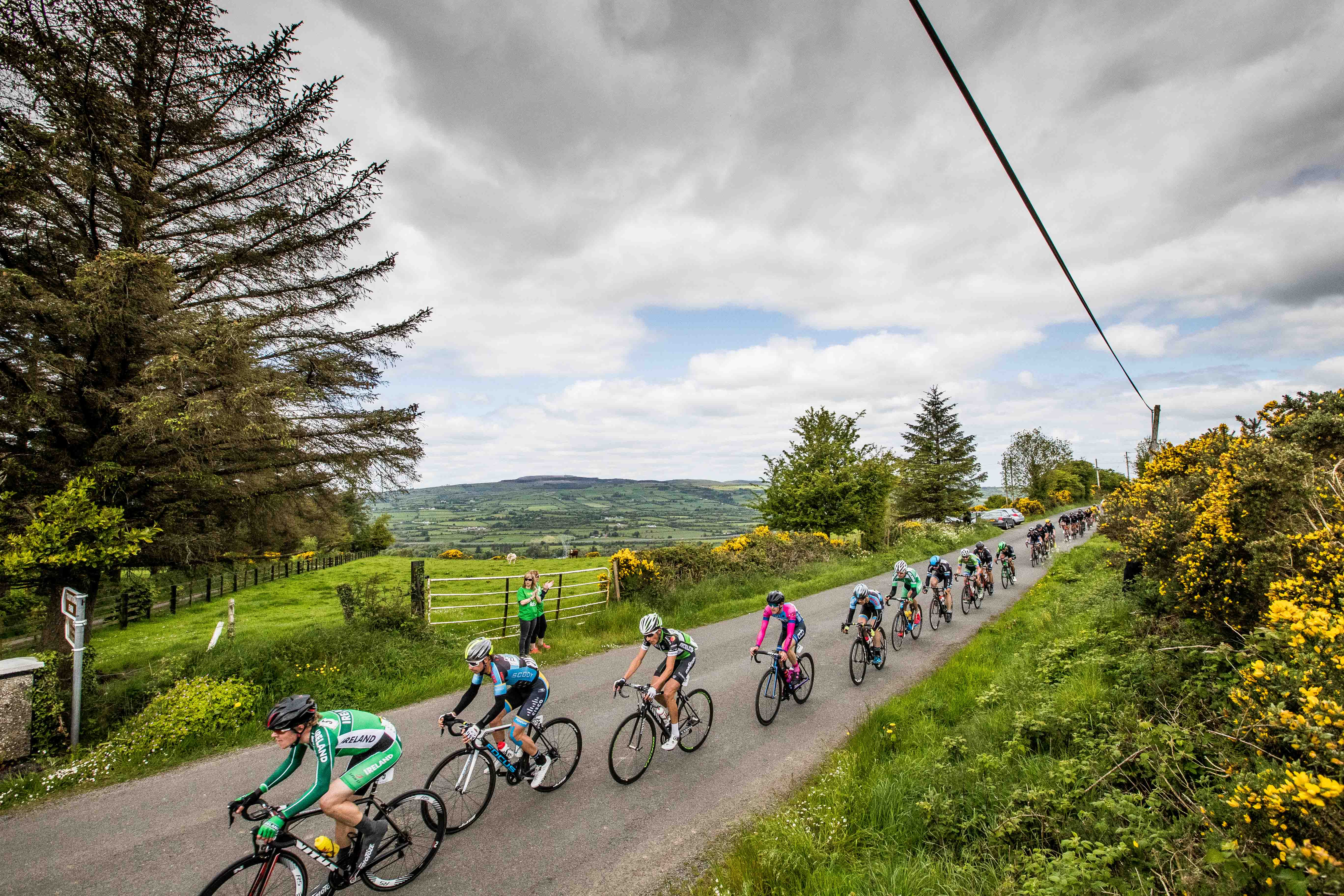 The main bunch of riders in the An Post Rás on the Shalee climb outside  Newport a76dcac66