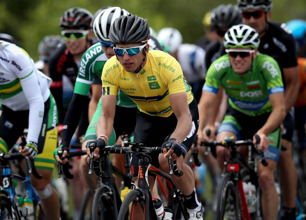 An Post Ras overall leader and yellow jersey holder Clemens Frankhauser, Austria Tirol Cycling Team (Photo: ©INPHO/Ryan Byrne)