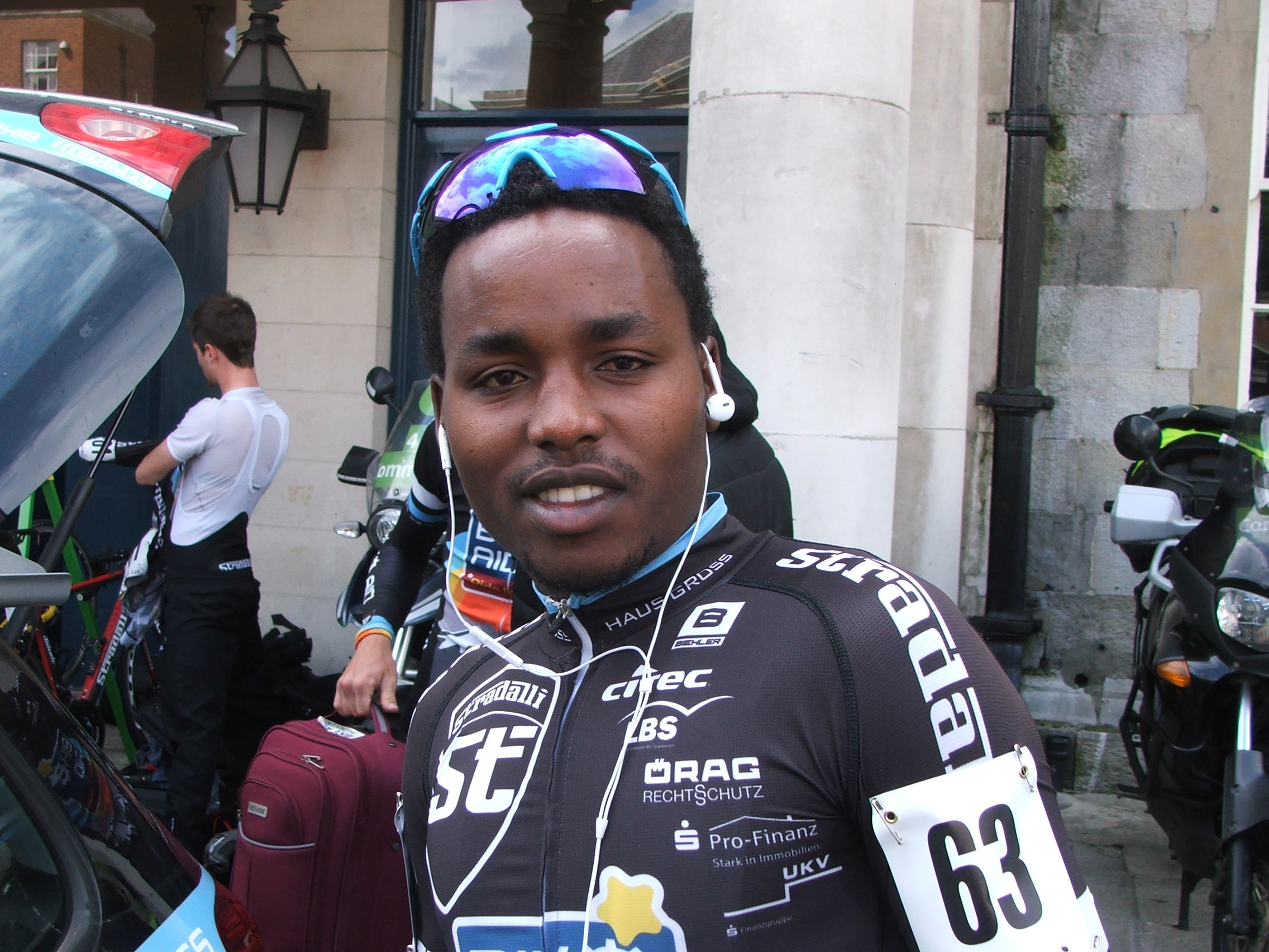 Janvier Hadi at the start of the 2016 An Post Rás in Dublin Castle. Photo: Graham Healy