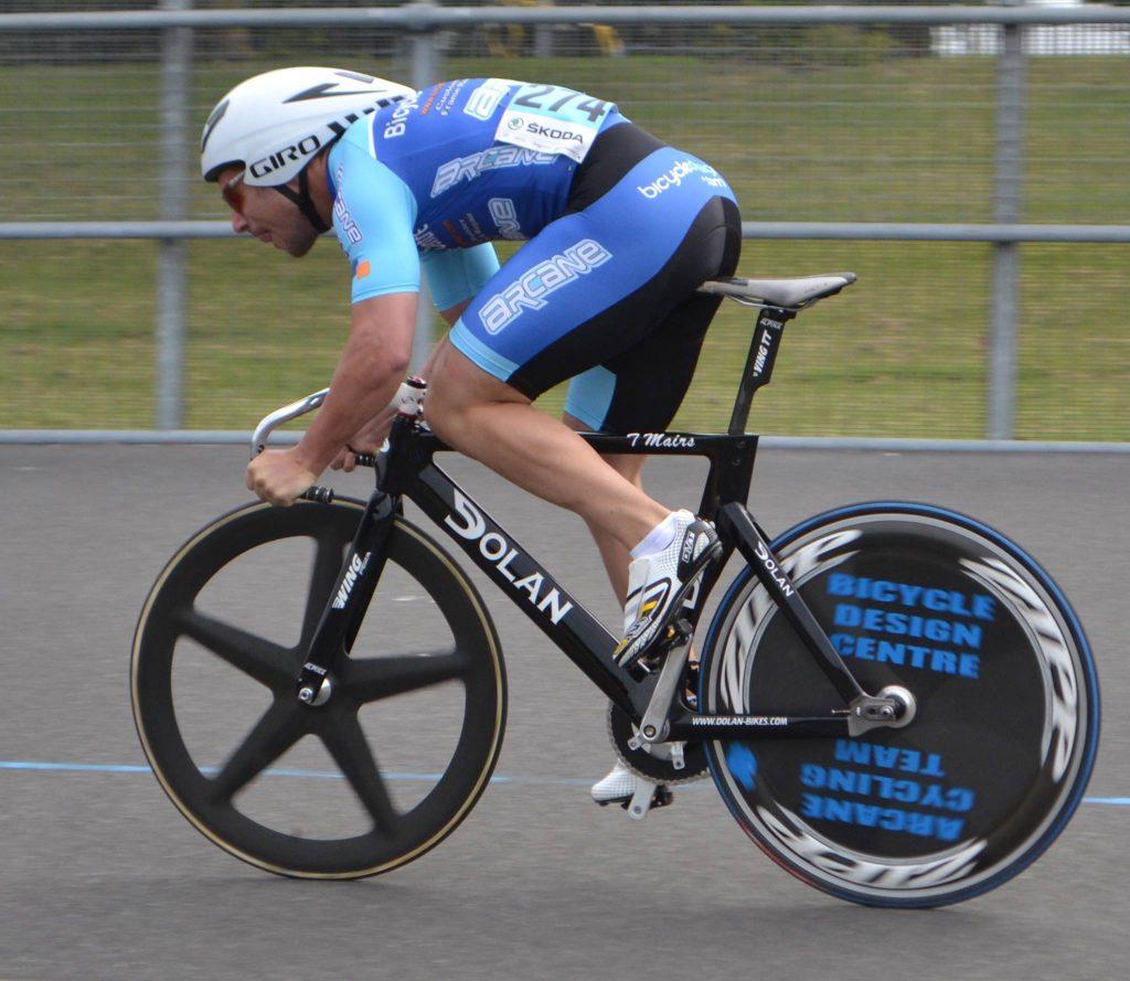 Tony Mairs in the 200m TT (Photo: Arcane Cycling Team)