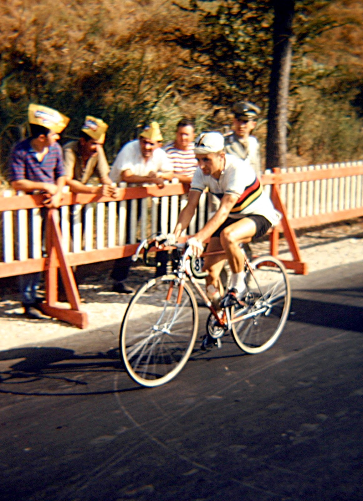 World Amateur Champion, Gustav Schur of East Germany warming up for the road race. (Photo: © Sean B. Fox)