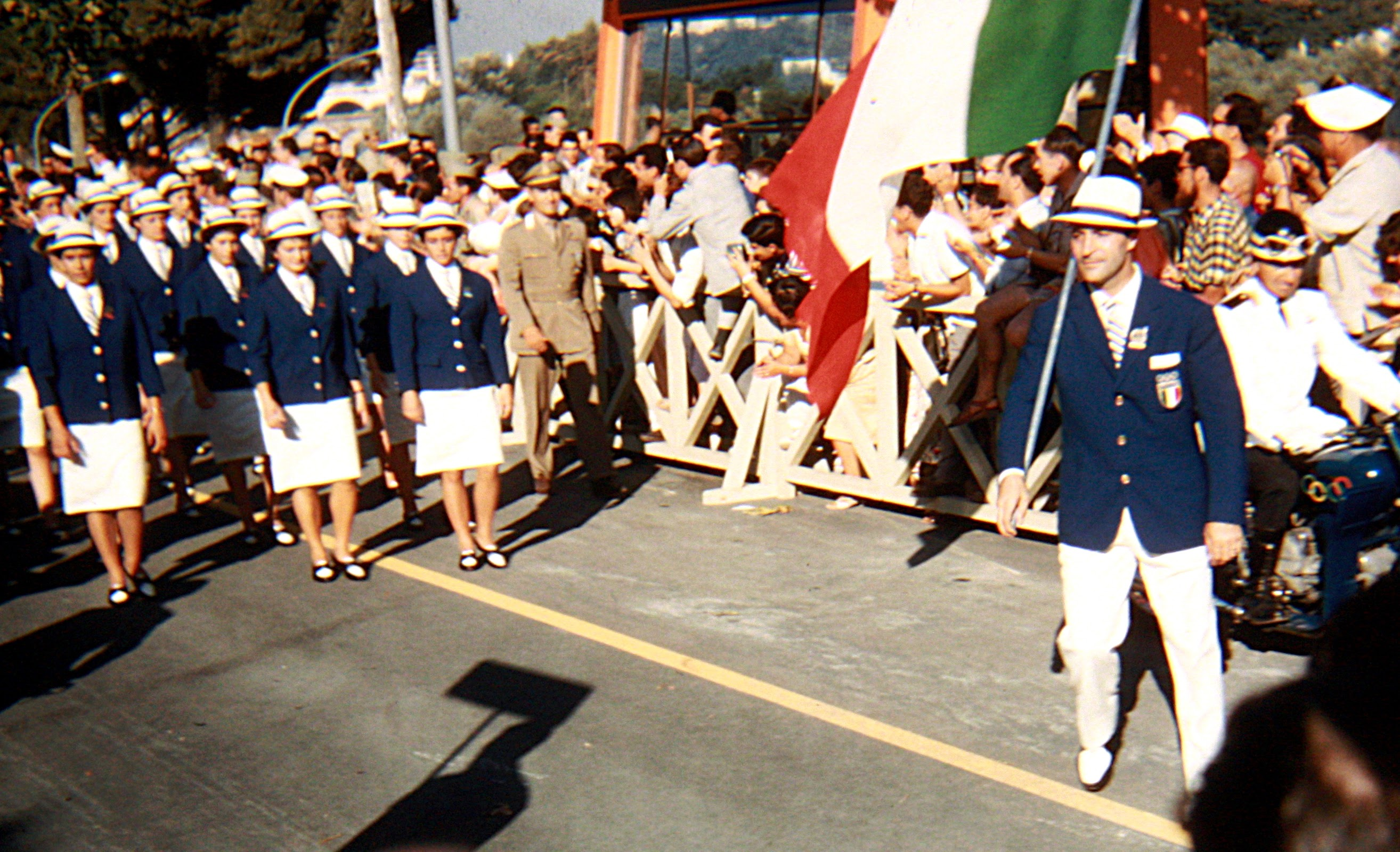 The home Italian team proudly enter the stadium for the opening ceremony. (Photo: © Sean B. Fox)