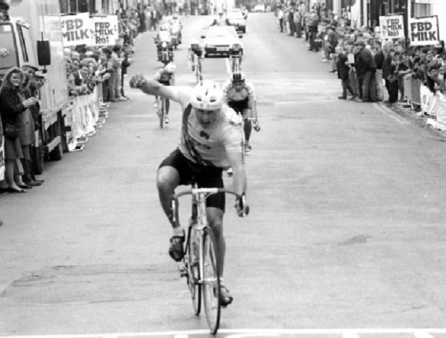 Kevin Kimmage seen here winning a stage of the Rás (Photo: rastailteann.com / Lorraine O'Sullivan)