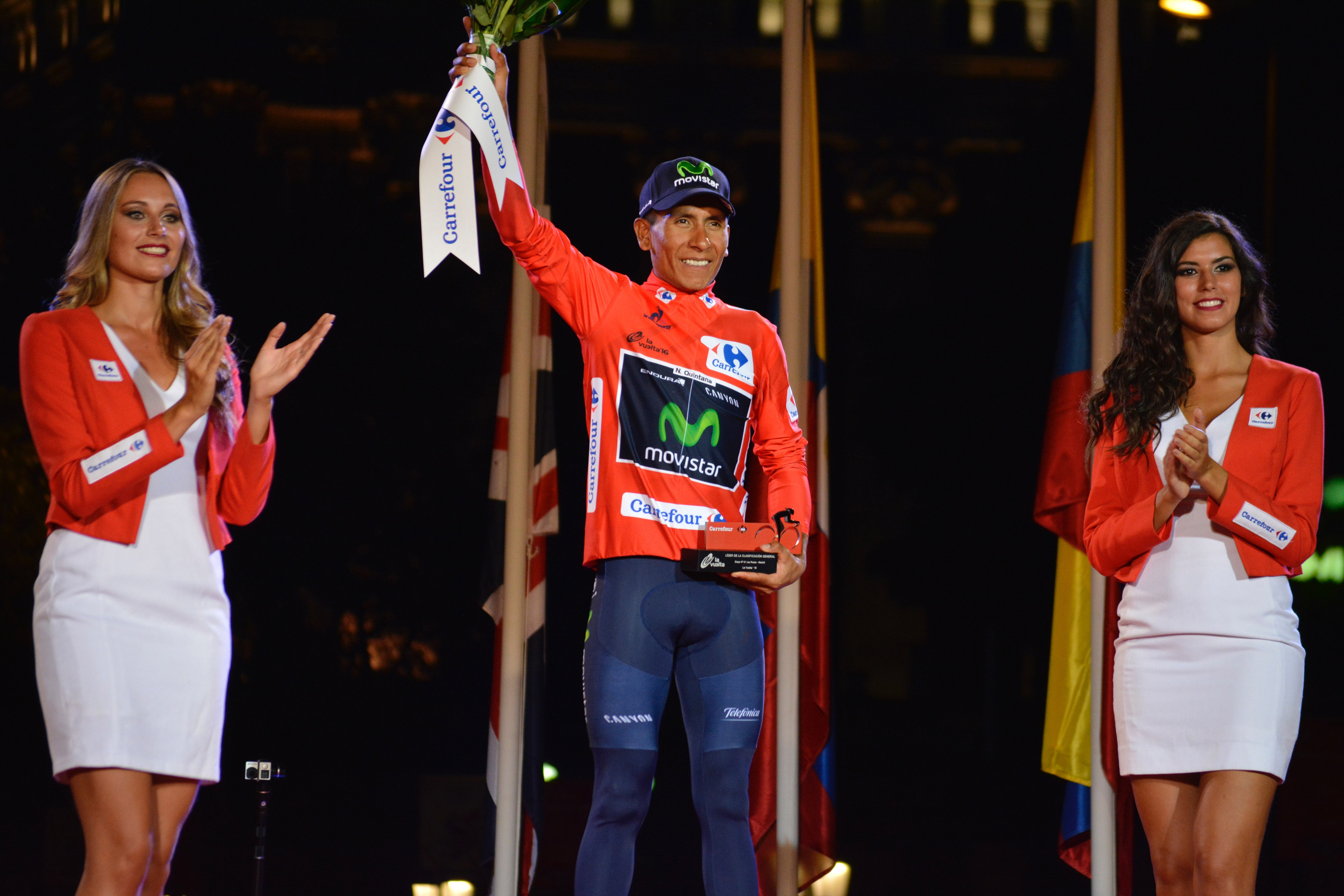 Quintana on the top step of the 2016 Vuelta (Photo: Movistar Team)