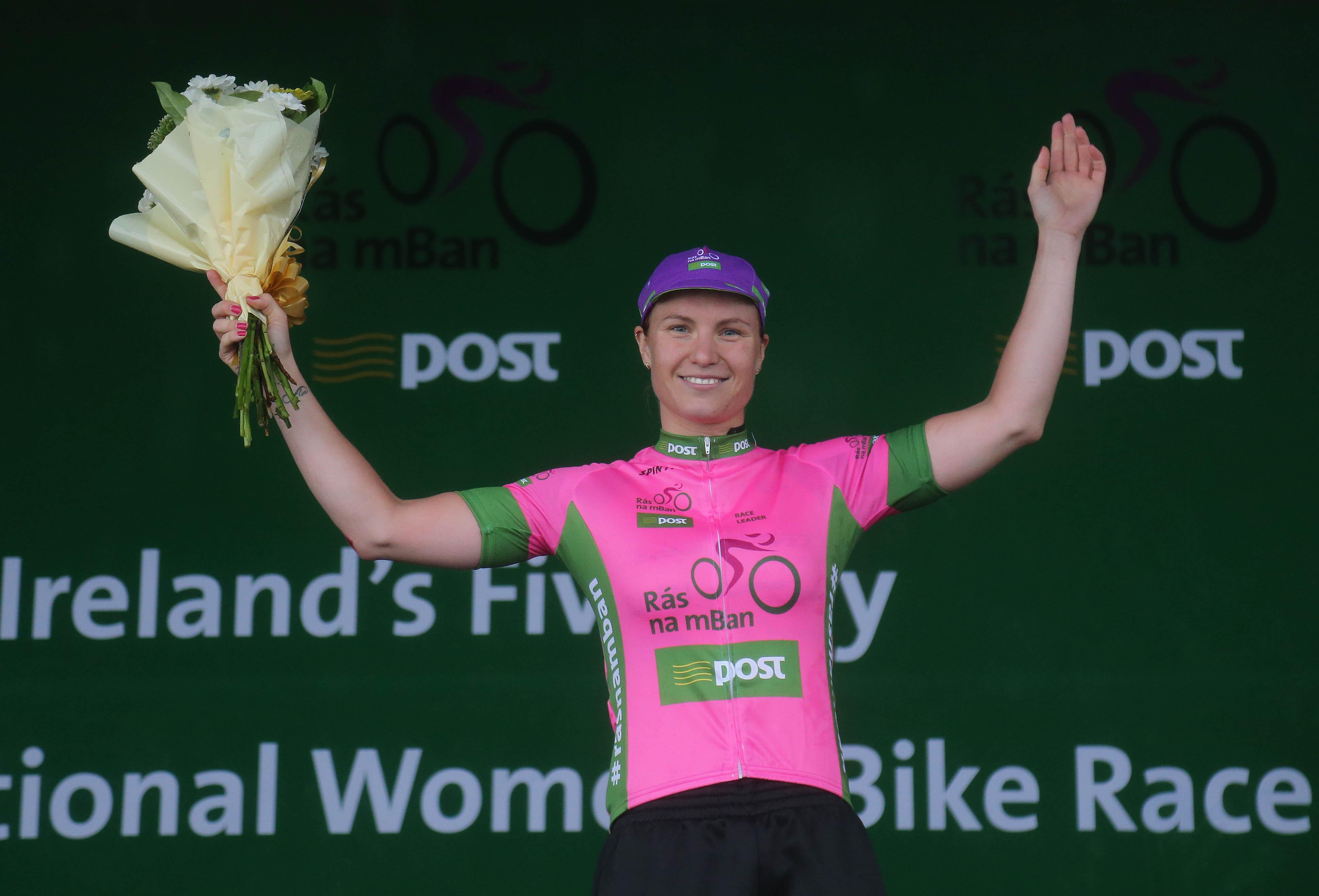 Race Leader Rikke Lonne of Team Crescent Dare after todays stage (Photo: Lorraine O'Sullivan)