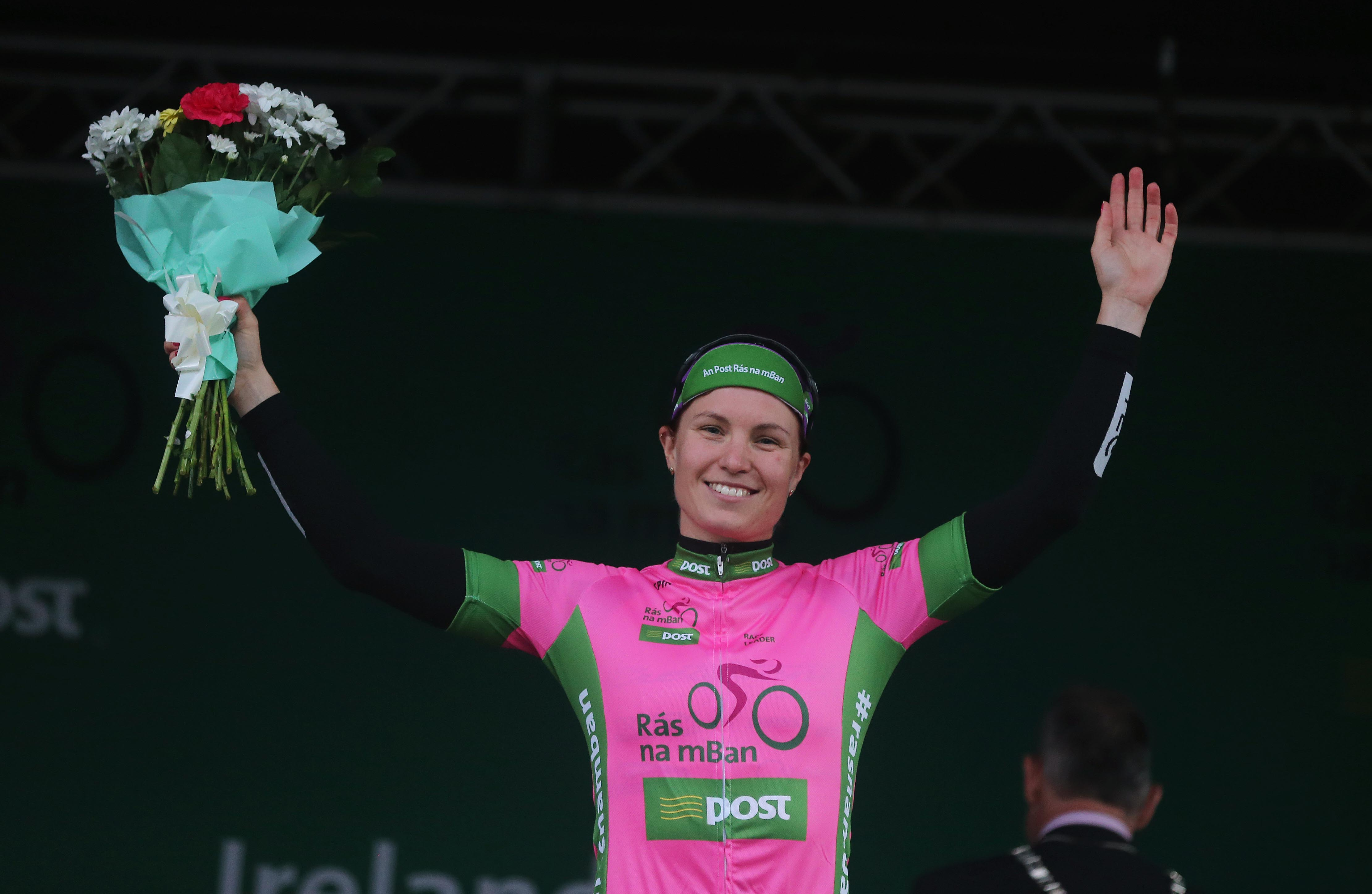 Race Leader Rikke Lonne (Team Crescent  Dare)   (Photo: Lorraine O'Sullivan)