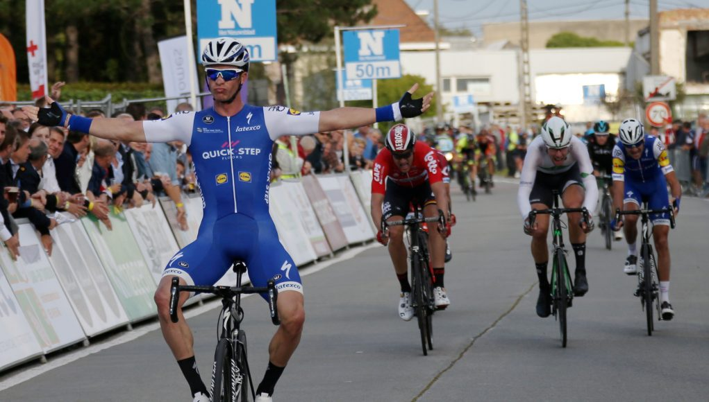 Thumbnail Credit(thebikecomesfirst.com) Photo: VDB / VANDENBROUCKE: After more than 80 kilometres in the break at Textielprijs Vichte, Iljo Keisse (Quick Step Floors) finished off the job by taking his second victory of the season.