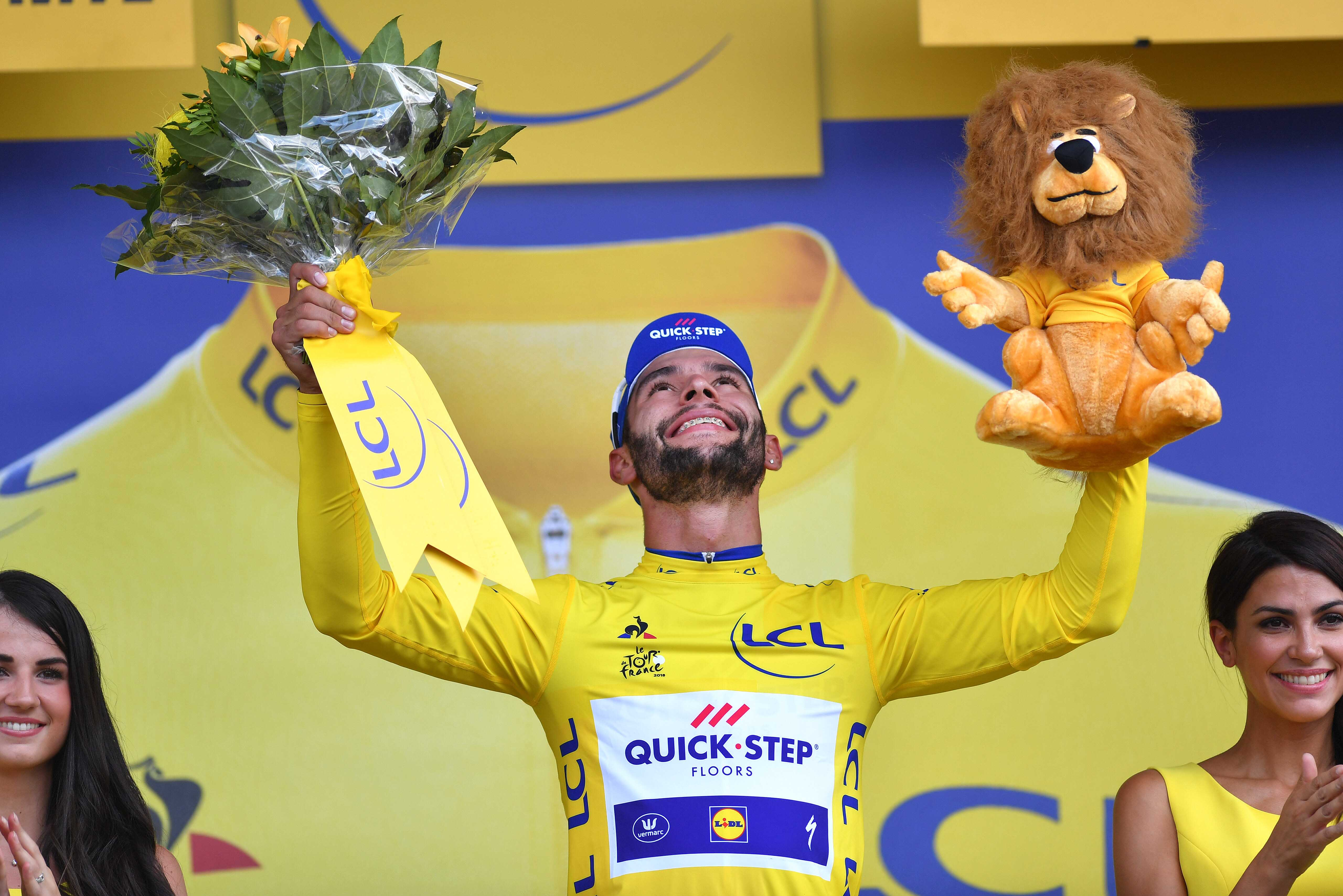 937a22181 Fernando Gaviria wins opening stage of the Tour de France to take first  yellow jersey